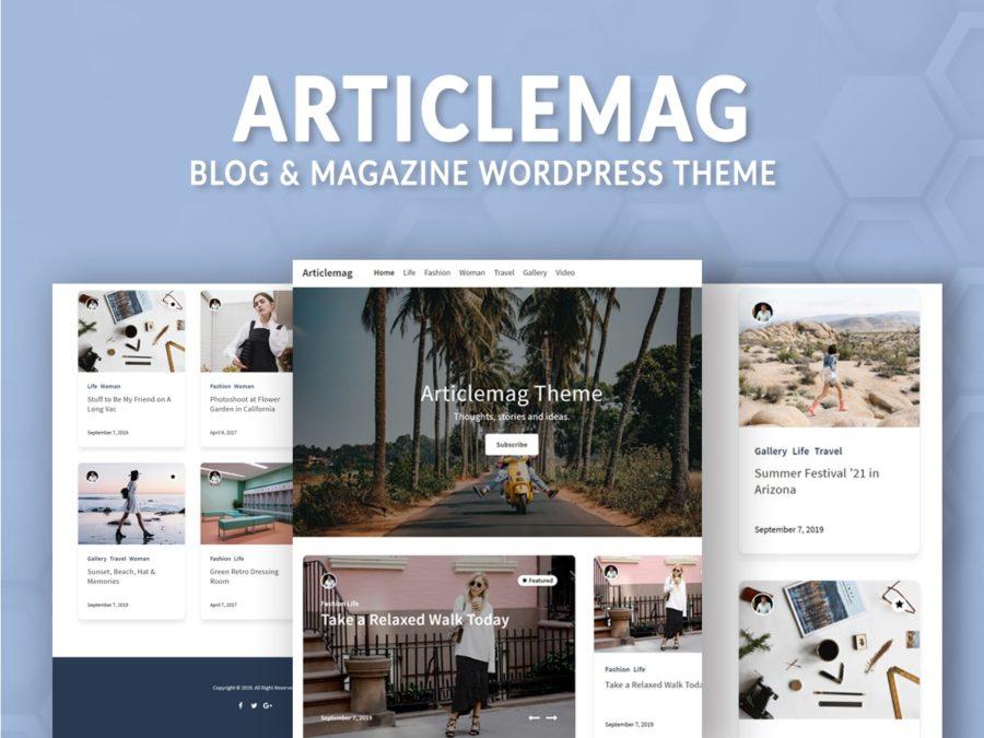Blog And Magazine WordPress Theme