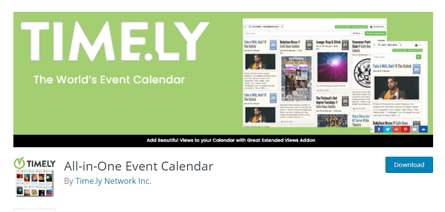 Timely All-in-One Event Calendar