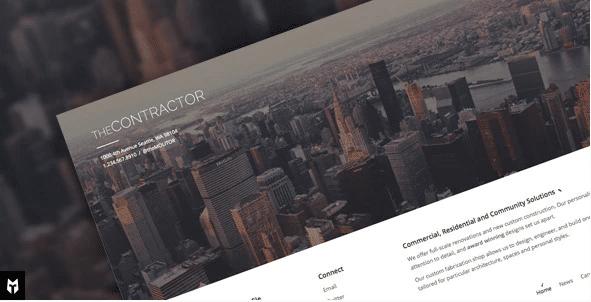 WordPress Contractor Themes