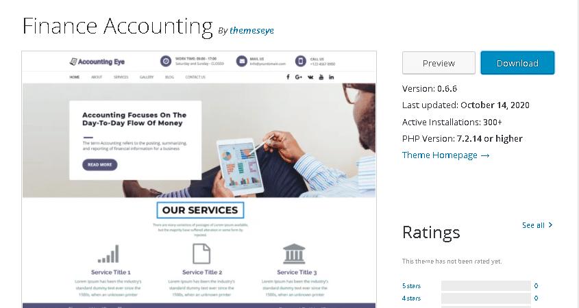 finance accounting wordpress theme
