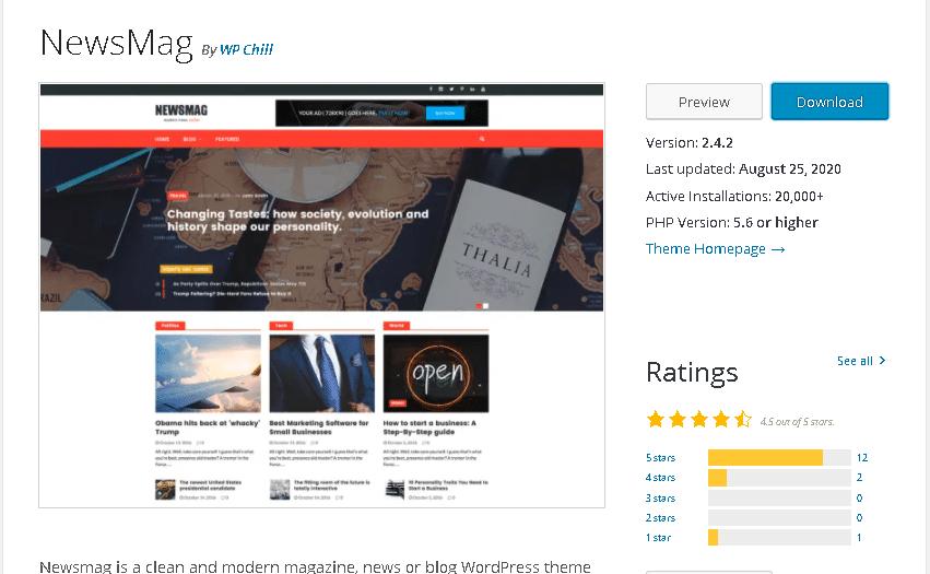 newsmag wordpress theme for news